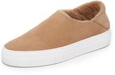 Tibi Charlie Shearling Slip On Sneakers