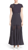 Stella McCartney 'Lara' Broderie Anglaise Detail Cap Sleeve Dress