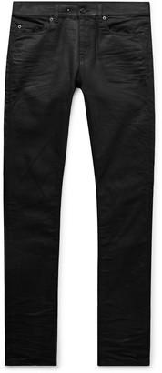 Saint Laurent Skinny-Fit Coated-Denim Jeans
