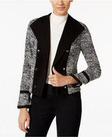 Calvin Klein Cropped Open-Front Blazer