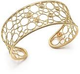 Roberto Coin 18K Yellow Gold Bollicine Diamond Cuff Bracelet