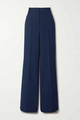 Akris Floyd Wool-twill Wide-leg Pants - Blue