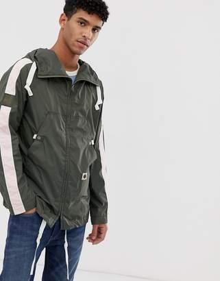 Pretty Green lightweight taped jacket in khaki