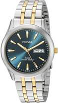 Pulsar Men's PXN197X Analog Display Japanese Quartz Two Tone Watch