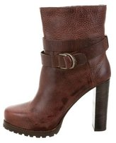 Brunello Cucinelli Leather Round-Toe Ankle Boots w/ Tags