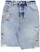 New Look BONNIE MOM Mini skirt dark blue