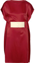 MM6 MAISON MARGIELA Belted Satin Dress - Red