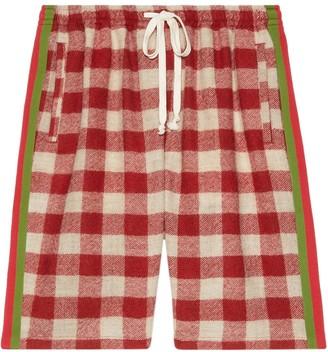 Gucci Oversize Check Pattern Shorts