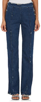 Victor Alfaro Women's Distressed Denim Straight-Leg Pants