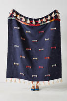 Anthropologie Embroidered Jamilla Throw Blanket