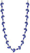 Effy Tanzanite Royalé Tanzanite (11-3/4 ct. t.w.) and Diamond (3/4 ct. t.w.) Fancy Collar Necklace in 14k White Gold