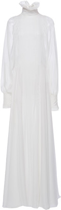 Philosophy di Lorenzo Serafini Ruffled High-Neck Chiffon Gown