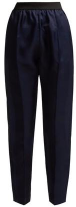 ALBUS LUMEN Lujio Silk-organza Trousers - Womens - Navy