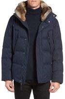 Andrew Marc Men's Darien Genuine Rabbit Fur Trim Down/feather Jacket