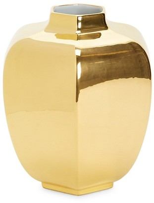 AERIN 18K Goldplated Decorative Vase