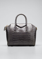 Givenchy Antigona Small Croc-Embossed Satchel Bag