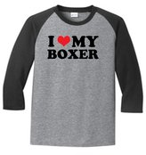 Sod Uniforms I Heart My Boxer 5700 Raglan T Shirt Slogan Humorous