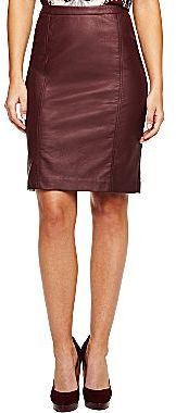 JCPenney Worthington® Faux Leather Pencil Skirt