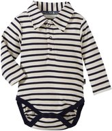 Jo-Jo JoJo Maman Bebe Breton Poloshirt Body (Baby) - Ecru/Navy Stripe-3-6 Months