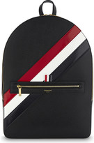 Thom Browne Diagonal striped pebbled leather backpack