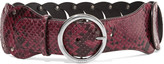 Emilio Pucci Snake-effect cutout leather belt