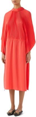 Gucci Long-Sleeve Ruffle-Sleeve Dress