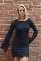 Nightcap Clothing Spanish Priscilla Dress in Black