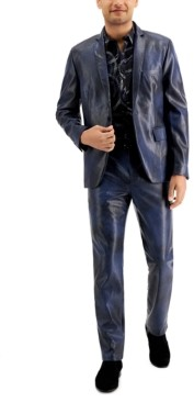 INC International Concepts Inc Men's Slim-Fit Faux Leather Blazer, Created for Macy's