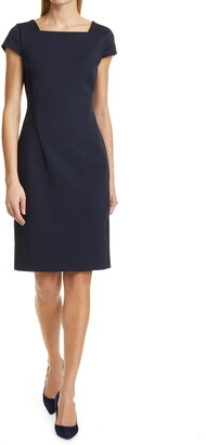 HUGO BOSS Davenara2 Sheath Work Dress