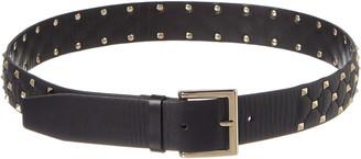 Valentino Rockstud Spike Leather Belt