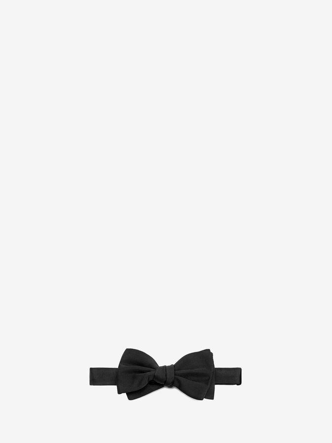 Alexander McQueen Solid Grenadine Bow Tie