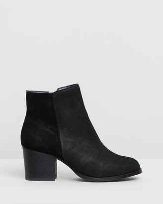 IRIS Footwear - Women's Black Heeled Boots - Genevieve - Size One Size, 6 at The Iconic