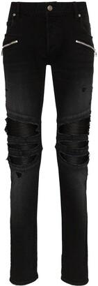 Balmain Destroy biker jeans