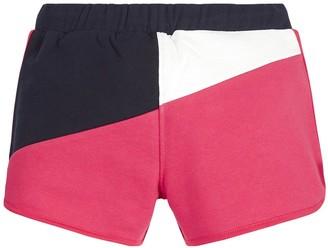 Tommy Hilfiger Girls Colour Block Jersey Shorts - Navy/Pink