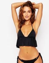 Asos Floaty Frill Crop Bikini Top