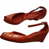 Prada Orange Patent leather Sandals