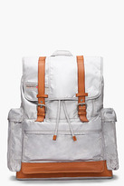 Diesel silver leather-trimmed Fully Backy-Hob backpack