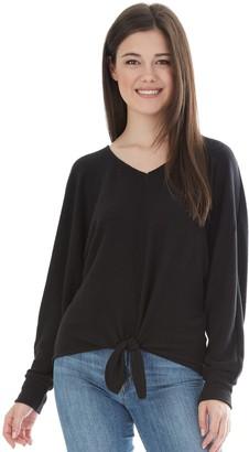 Iz Byer Juniors' Top V-Neck Long Dolman Sleeve Shirt