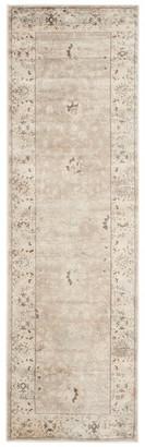 """Safavieh Vintage Collection VTG433 Rug, Light Grey/Ivory, 2'2"""" X 7'2"""""""