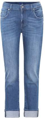7 For All Mankind Relaxed mid-rise skinny jeans