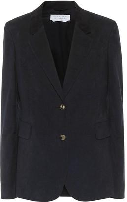 Gabriela Hearst Sophie single-breasted cotton blazer