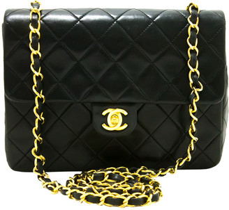 Chanel Black Quilted Leather Mini Chain Shoulder Flap Bag