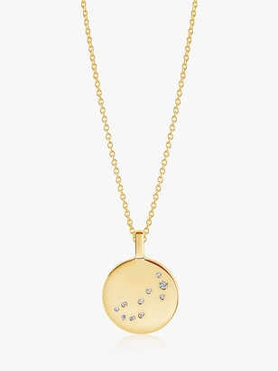 Sif Jakobs Jewellery Zodiaco Scorpio Cubic Zirconia Round Pendant Necklace