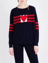 Chinti and Parker Love Heart cashmere jumper