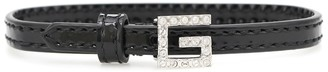 Gucci Square G patent leather bracelet