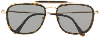 Tom Ford Tortoiseshell Square Frame Sunglasses