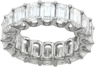 Charles & Colvard 14k White Gold 9 Carat T.W. Lab-Created Moissanite Eternity Band Ring