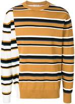 MAISON KITSUNÉ colour-block striped sweater