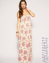 ASOS MATERNITY Floral Tie Waist Maxi Dress