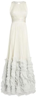 Maria Lucia Hohan Ruffle-Trim Chloe Gown